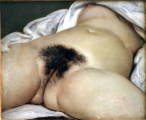 "Guess who? ""L'Origine du Monde"" by Courbet."
