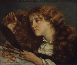 """La Belle Irlandaise"" by Courbet, Museum of Modern Art, New York."