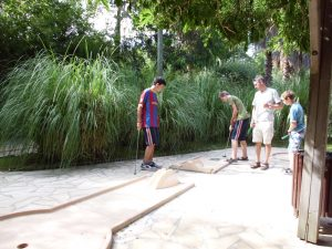 Hole in one? Mini Golf is one of many facilities at La Sirene camp site