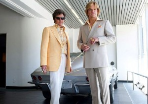 """Do I look too gay in this?"" Michael Douglas as Liberace and Matt Damon as his boyfriend camp it up."