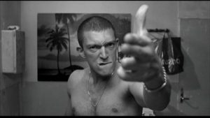 """C'est à moi que tu parles?"" In a well-supported national industry, critically-acclaimed French films from first-time directors such as 'La Haine' (above) from 1995 are part of a regular annual output the enriches France and Europe"
