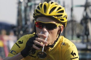 The Sweet Taste of Success: Froome aims to keep sipping for the next seven years.
