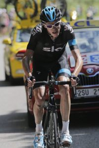 Froome! Froome! Chris Froome powers up Ax 3 Domaines to take the yellow jersey.