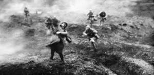 Murderous Offensives: Photo taken on a battlefield in Verdun during the First World War.