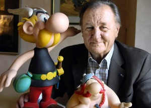 """I didn't imagine my characters living on after me..."" Original Asterix illustrator Albert Uderzo."