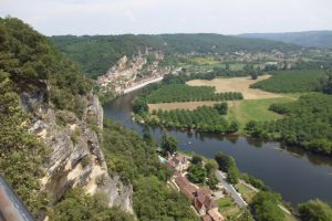 A River Runs Through it: The Dordogne River, as viewed from the elevated Jardins de Marqueyssac