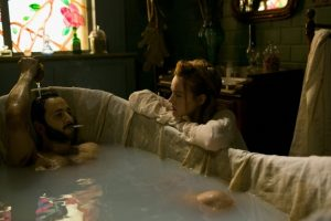 """Smoking in the bath: A scene from period brothel drama """"Maison Close"""""""