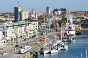 An aerial view of the Bassin des Chalutiers in La Rochelle; where Bullseye have opened their French office