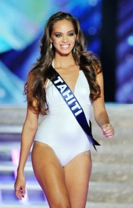 Runner-up Miss Tahiti - not on the same playing field as Miss Orleans