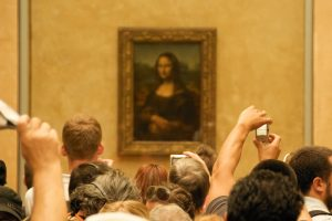 The Mona Lisa in the Louvre, Paris: Too fragile to travel anywhere, unless the President says otherwise.