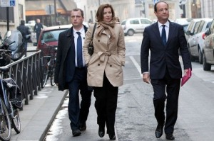 Getting colder? Valérie Trierweiler and François Hollande