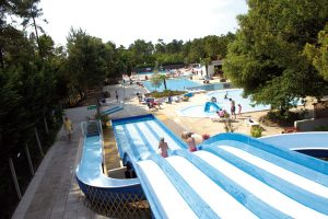 Wheee! The view from the top of the slide at the Bois Dormant pool, St Jean-de-Monts