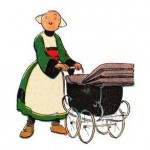 Becassine  with her pram  - originally drawn in 1905