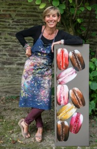 Painting for all the Senses: Marie Jolly with one of her macaroon paintings