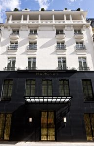 Elegant façade: the front of the Marignan