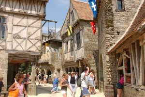 Spot the difference: the Puy du Fou mediaeval village is so authentic, you can easily forget you're in a recently-built artifice.