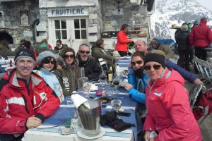 Enjoying the Sunshine with the gang at La Folie Douce and La Fruitière
