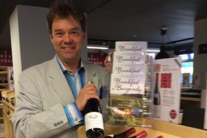 Homegrown Harvest: Raymond at a book signing along with Santenay wine