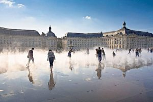 One of France's favourite cities... mist and sunshine at the Place de la Bourse