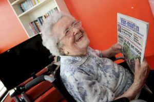 Still enjoying a good read: Honorine keeps the grey matter active by reading every day